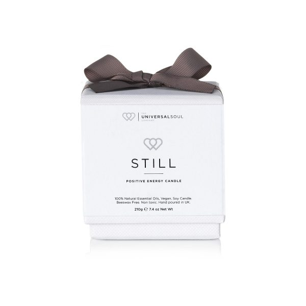 Positive Energy Candle STILL 30cl in box with ribbon - The Universal Soul Company