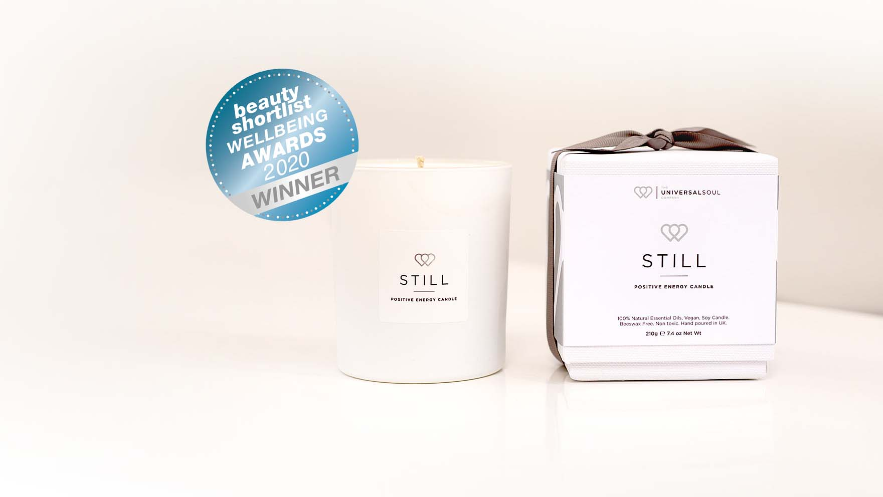 STILL Positive Energy Candle wins the 'Wellbeing Editors' Choice Award 2020′